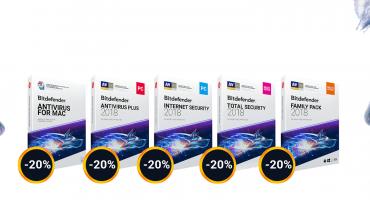 Bitdefender2018  Wszystkie programy20% taniejdo końca września!