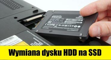Usługa wymiany dysku HDD na SSD