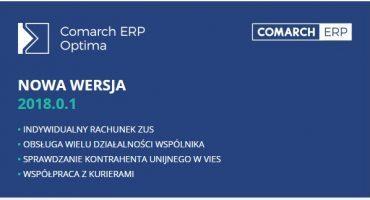Nowa wersja Comarch ERP Optima 2018.0.1 – jest już dostępna!