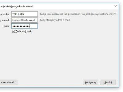 Thunderbird – Automatyczna konfiguracja konta