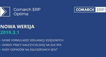 Comarch ERP Optima 2019.3.1 – najważniejsze zmiany