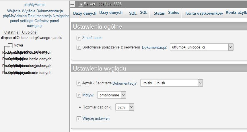 obrazki w phpMyAdmin