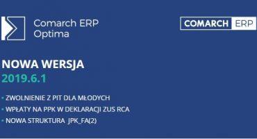 Nowa wersja Comarch ERP Optima 2019.6.1 jest już dostępna!