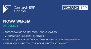 Nowa wersja Comarch ERP Optima 2020.0.1!