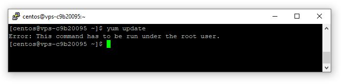 Error: This command has to be run under the root user.